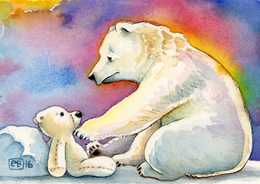 Erik Brooks Polar Bear Postcard Project