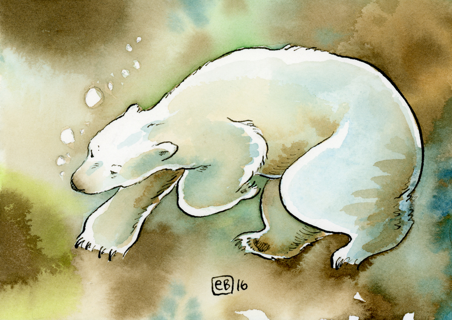 Eric Brooks Polar Bear Postcard Project