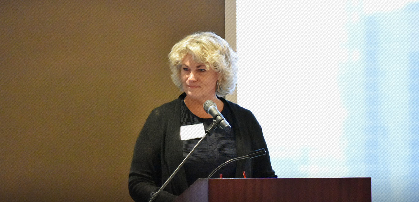 Sonya Campion speaks at the Alliance of Eastside Agencies' luncheon, June 2017